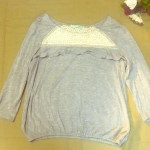 Maurice's EUC gray lace top